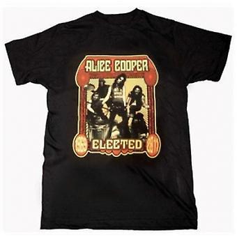 Alice Cooper Elected Band Mens Black T-Shirt: Large