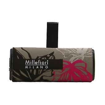 Millefiori Icon Textile Floral Car Air Freshener - Magnolia Blossom & Wood 1pc