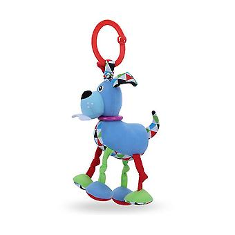 Blue Dog Baby Hanging Toys Children Rattle Toys With Sound Paper Bell Bb Device Soft Plush Rattling Doll