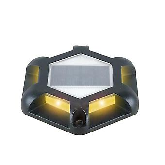 Outdoor solar waterproof underground light, 6 LED garden Step lights(Black)