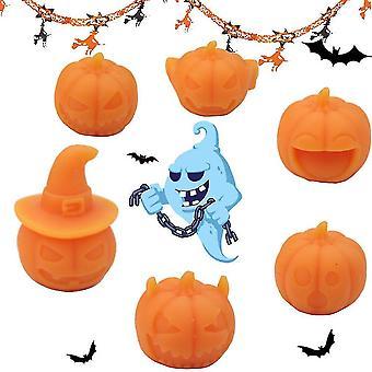 6pcs Halloween Pompoen Zachte Tricky Rubber Anti Stress Toy
