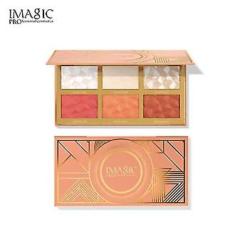 6 Color Facial Blush Highlighter Bronzers 3 In 1 Face Brightening Powder  Bronzers & Highlighters