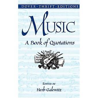 Muziek Een boek met citaten van Herb Galewitz