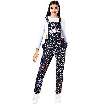 Hype Meisjes Disty Floral Dungarees