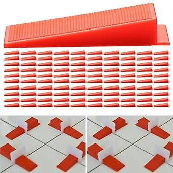 (300PCS Wedges) Tile Leveling Spacer System Tool / Wedges / Pliers Tool Tiling Kit