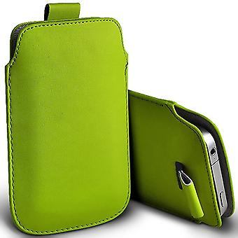 (Groen) Samsung Galaxy Xcover 4 Case Slip In Pull Tab Faux Lederen Pouch Case Cover