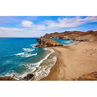 Tapeta Mural Almeria Playa Del Monsul Plaża w Cabo De Gata w Hiszpanii