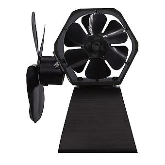 4 Blade Thermal Power Fireplace Fan For Indoor