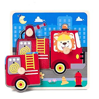 Hand grab board puzzle wooden toys for children cartoon animal fruit wood jigsaw kids baby early educational toy hot sell