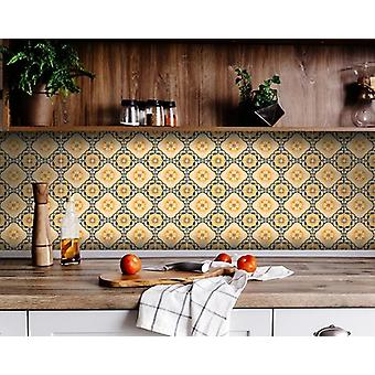 """8"""" X 8"""" Golden Deco Peel And Stick Removable Tiles"""