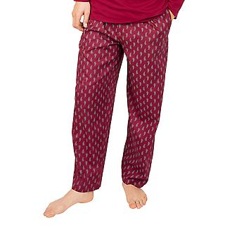 Cyberjammies Frankie 6645 Pantalon Pyjama Homme Bourgogne Rouge Paisley Coton