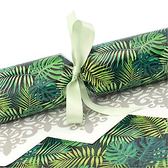 6 Tropical Leaf Crackers - Make & Fill Your Own Kit without Ribbons