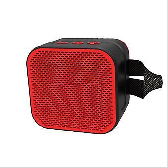 Wireless Bluetooth V4.2 Speaker Waterproof Outdoor Portable Loudspeaker|Portable Speakers(Red)