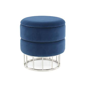 Ottoman - Modern - Blue - Polyester - 37,5cm x 37,5cm x 41cm
