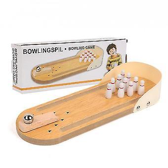 Mini Bowling Brettspiel Holz Kinder Pädagogische Innovation Spielzeug Massivholz Eltern-Kind Spaß Spiel