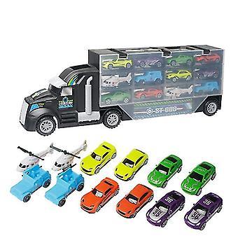 Remote control cars trucks 13pcs/set transport car carrier truck boys toy for kid children|rc trucks black