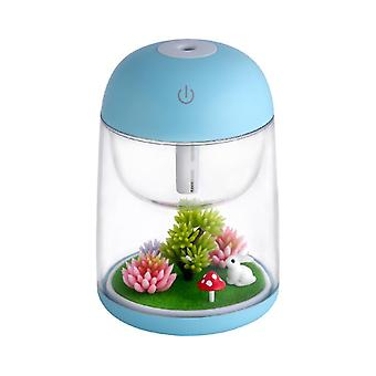 Air purifiers household small air purifier micro landscape colorful humidifier usb night light humidifier-blue
