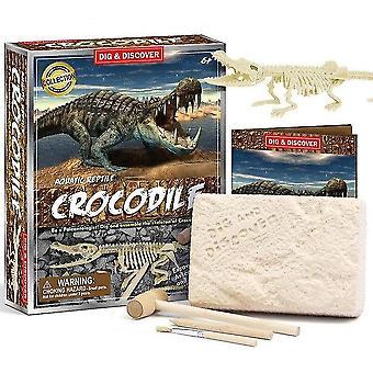 Kinderen 6+ educatieve diy dinosaurus fossiele archeologische graven speelgoed (D7147)