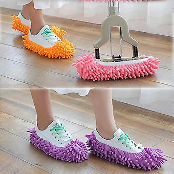 5 Pairs (10 Pcs) Multi-function Dust Duster Mop Slippers Shoes Cover