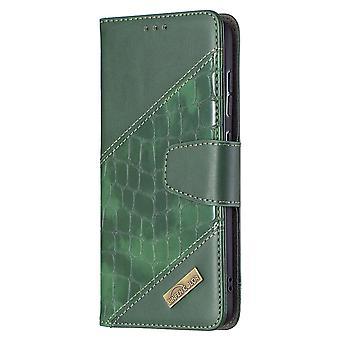 Coque pour Samsung Galaxy S21 Fe Case Premium Pu Cuir Card Holder Vert