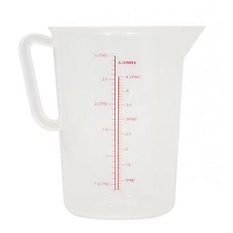 3 liter kruik polypropyleen meten duidelijk voor jus of Stock