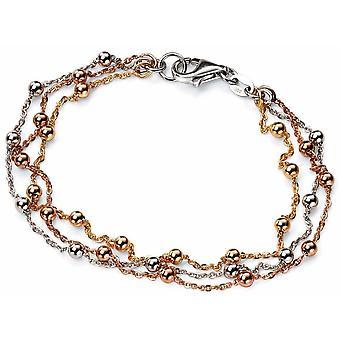 925 серебряные розовое золото покрытием и золото покрытием браслет тенденция белый