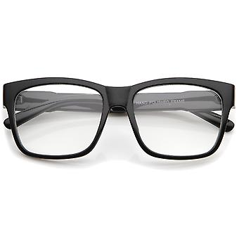 "Square ""BOLD"" casual lentille claire corne Rimmed lunettes 53mm"