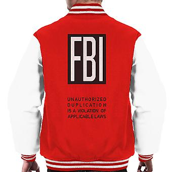 FBI Funny Quote Men's Varsity Jacket