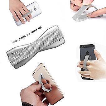 (Silber) Anti-Rutsch elastischen Finger Handy Griff Halter für Motorola Moto G6 spielen