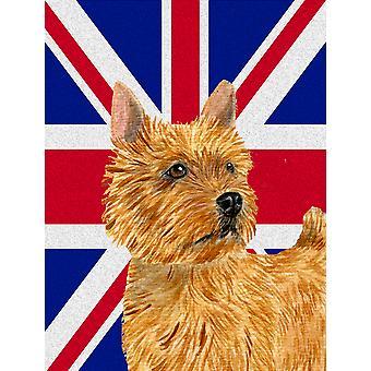 Norwich Terrier angielski Union Jack flagi brytyjskiej flagi płótnie dom rozmiar