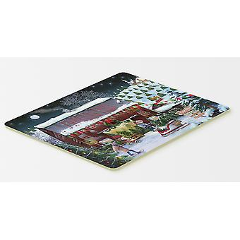 Carolines Treasures  PTW2002CMT Christmas Tree Farm Kitchen or Bath Mat 20x30