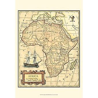Afrika kart plakatutskrift av visjon studio (13 x 19)