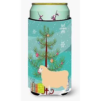 English Leicester Longwool Sheep Christmas Tall Boy Beverage Insulator Hugger