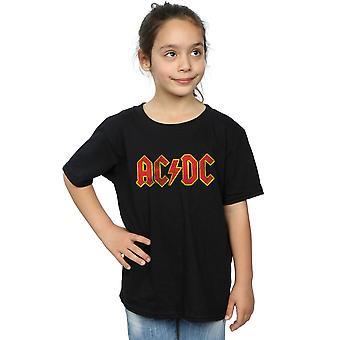 AC/DC meninas angustiado logotipo vermelho t-shirt
