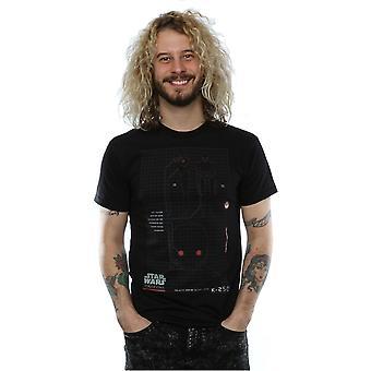 Star Wars Rogue ein K-2SO schematische T-Shirt für Männer