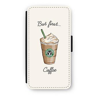 iPod Touch 6 Flip Case - But first coffee