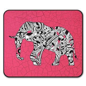 Elephant  Non-Slip Mouse Mat Pad 24cm x 20cm | Wellcoda