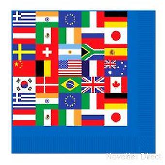 Internationale Flag servietter