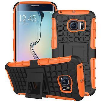 Robot SWL ibrido caso 2 pezzo arancione per Samsung Galaxy S6 bordo plus SM G928 F