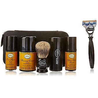 The Art of Shaving Travel Kit Lemon Essential Oil 5pc Set With Leather Case
