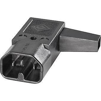 K & B 42R042211 Hot wire connector 42R Series (mains connectors) 42R Plug, right angle Total number of pins: 2 + PE 10 A Black 1 pc(s)