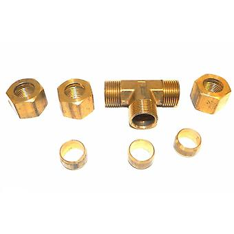 """Big A Service Line 3-16480 Tee Connector Fitting 1/2"""""""