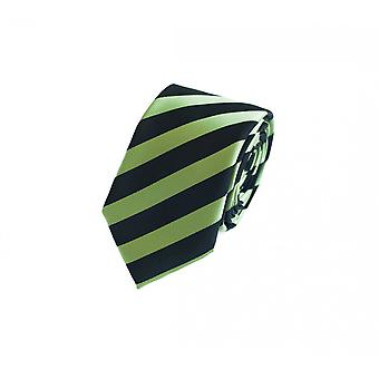 Tie stropdas stropdas tie 6cm kiwi groen zwart gestreept Fabio Farini