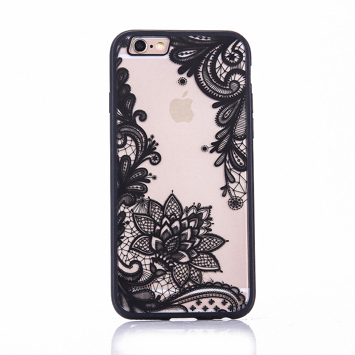 Mobile case mandala for Apple iPhone 8 design case cover motif flower cover case bumper black