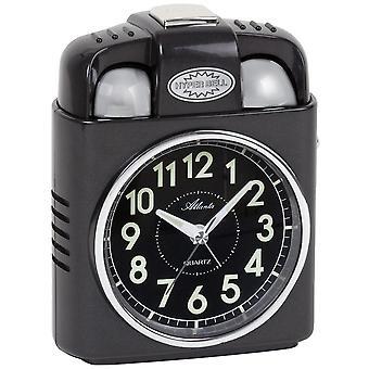 שעון מעורר קוורץ אנלוגי אור משהה פעמון בל פעמון