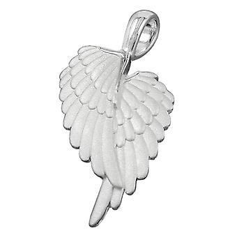 Трейлер, Ангел крыло матовое серебро, 925 ангел крылья Кулон