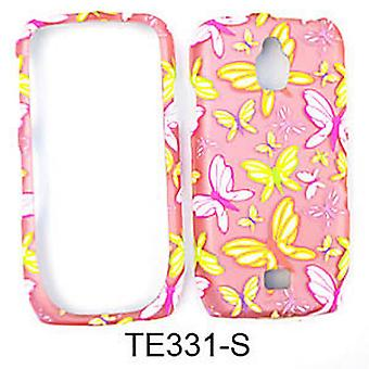 Snap-On Protector Case for Samsung Galaxy Exhibit 4G T759 (Trans. Design/Butterflies on Light Pink)
