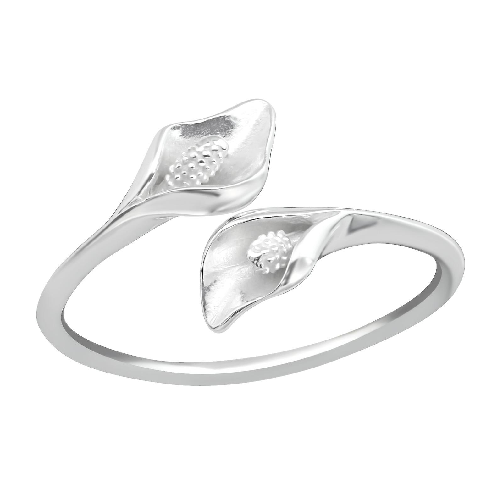 Calla Lily Flower Plain Rings 925 Sterling Silver
