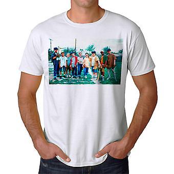 The Sandlot Cast Photo Graphic Men's White T-shirt