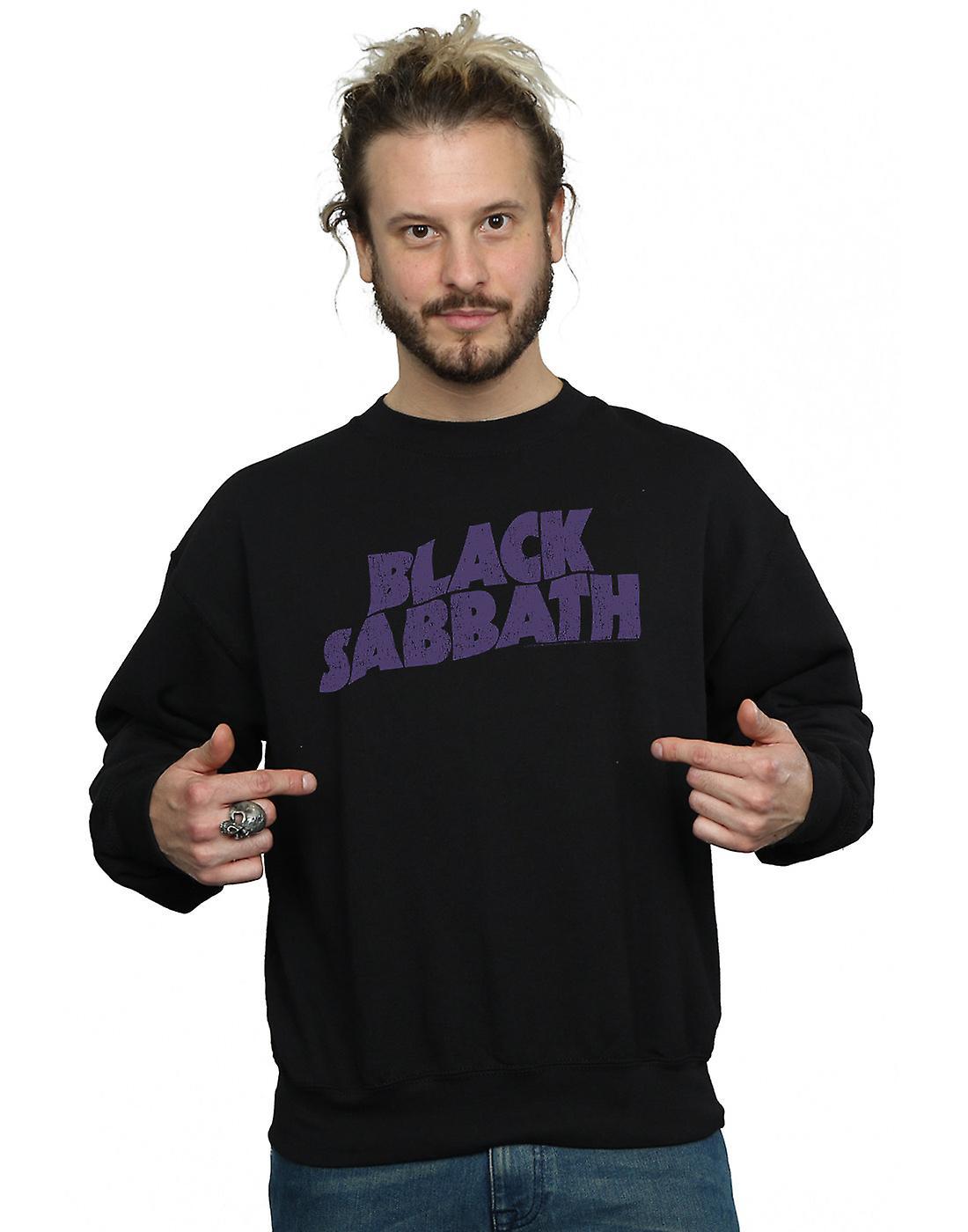 Black Sabbath Men's Distressed Logo Sweatshirt